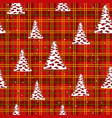 seamless christmas pattern - trees with stars on vector image vector image