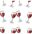 seamless pattern background with glasses red vector image vector image