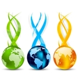Set of banners with globe vector | Price: 1 Credit (USD $1)