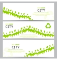 Set of elegant web eco banners vector image vector image