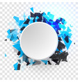 shatter design element empty space for vector image vector image