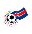 soccer ball with the flag of costa rica vector image vector image