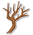 sticker design with a dry tree isolated vector image