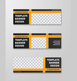 templates horizontal banners with a place vector image vector image