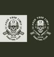 vintage shooting club monochrome emblem vector image