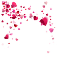 Whirlwind Confetti of Hearts vector image vector image