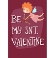 with angel valentine card for vector image