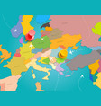 world travel concept with map europe and color vector image vector image