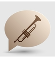 Musical instrument Trumpet sign Brown gradient vector image