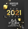 2021 happy new year party poster vector image