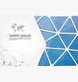 abstract blue geometric design template with vector image