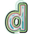 Abstract colorful Letter d vector image vector image