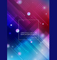abstract geometric shapes colorful background vector image vector image