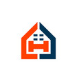 Abstract home letter h icon logo