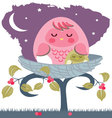 asleep-baby-owl-with-mom vector image vector image