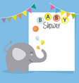 baby shower boy vector image vector image