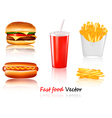 Big group of fast food products vector | Price: 3 Credits (USD $3)