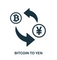 bitcoin to yen icon mobile app printing web vector image vector image