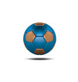 blue gold soccer ball on white background vector image vector image