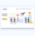 business process website landing page vector image vector image