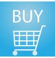 buy slogan and shopping cart symbol eps10 vector image