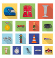 car and rally icon set of vector image vector image