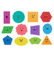 cartoon geometric shapes characters vector image