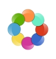 color circle vector image