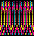 colored abstract geometric pattern vector image vector image