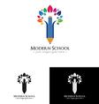 Colorfull school logo vector image vector image
