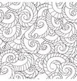 Coloring for adults Pattern from waves vector image vector image