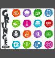 communication icons set in grunge style vector image vector image