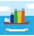 Container Ship Infographic vector image vector image