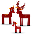 deer and fawn Set of funny animals with cubs on vector image