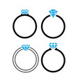 diamond ring icon design template isolated vector image vector image