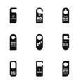 door hanger icon set simple style vector image