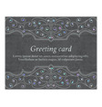 elegant greeting vintage cards vector image vector image