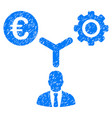 euro financial development grunge icon vector image vector image