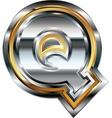 Fancy font Letter Q vector image vector image