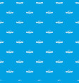 female hat pattern seamless blue vector image vector image