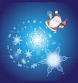 festive christmas card with santa claus vector image