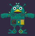 flying chicken robot vector image