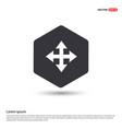 four arrows icon hexa white background icon vector image
