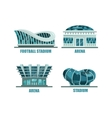 Glassware futuristic football or soccer stadium vector image vector image