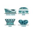 glassware futuristic football or soccer stadium vector image vector image