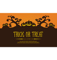 halloween background with tree and pumpkin vector image vector image