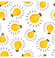 halogen lightbulb seamless pattern background vector image vector image