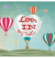 Heart-shaped hot air balloons EPS 10 vector image vector image