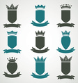 Heraldic royal blazon set - imperial striped decor vector image vector image