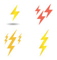 lightning bolt yellow and red lightning strikes vector image vector image